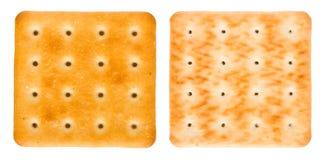 Gouden crackers stock foto's