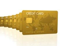 Gouden creditcards vector illustratie