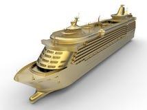 Gouden cruiseschip royalty-vrije illustratie