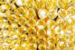 Gouden Crystal Glass Chandelier-luxelicht stock foto's