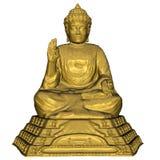 Gouden 3D Boedha - geef terug Royalty-vrije Stock Afbeeldingen