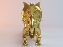 Gouden 3D dier (Einiosaurus) Stock Foto's