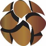Gouden 3D Metaalrotsen - Stock Illustratie