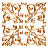 Gouden 3D seamlespatroon op geïsoleerde witte achtergrond Royalty-vrije Stock Foto's