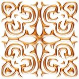 Gouden 3D seamlespatroon op geïsoleerde witte achtergrond Royalty-vrije Stock Foto