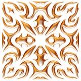 Gouden 3D seamlespatroon op geïsoleerde witte achtergrond Royalty-vrije Stock Fotografie