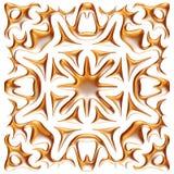 Gouden 3D seamlespatroon op geïsoleerde witte achtergrond Stock Afbeeldingen