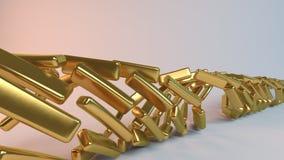 Gouden 3D spiraalvormige samenvatting Royalty-vrije Stock Afbeelding