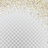 Gouden 3d sterren op transparante achtergrond Royalty-vrije Stock Foto's