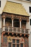 Gouden dak in Innsbruck Stock Foto's
