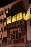 Gouden dak in Innsbruck Stock Foto