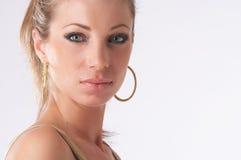 Gouden dame royalty-vrije stock foto
