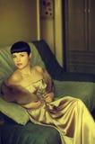 Gouden dame Royalty-vrije Stock Afbeeldingen