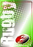 Gouden de afficheachtergrond 1 van het rugby Royalty-vrije Stock Fotografie