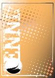 Gouden de afficheachtergrond 1 van het tennis royalty-vrije illustratie