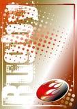 Gouden de afficheachtergrond 2 van het rugby Royalty-vrije Stock Afbeeldingen