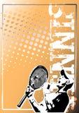 Gouden de afficheachtergrond 2 van het tennis vector illustratie