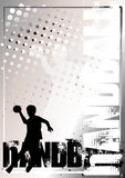 Gouden de afficheachtergrond 3 van het handbal vector illustratie