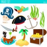 Gouden de avonturenstuk speelgoed van de leeftijdspiraat Royalty-vrije Stock Afbeelding