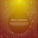 Gouden de balillustratie van Kerstmis Royalty-vrije Stock Foto