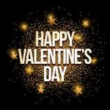 Gouden de Dag van Valentine ` s schittert achtergrondbanner vector illustratie