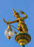 Gouden de engelenstandbeeld van Thailand. Royalty-vrije Stock Afbeeldingen