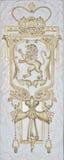 Gouden de leeuw gouden frame van het cijfer Stock Afbeeldingen