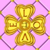 Gouden de liefdeachtergrond van het klaverornament Royalty-vrije Stock Fotografie
