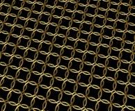 Gouden de ringspatroon van de kettingspost vector illustratie