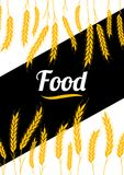 Gouden de Tarweoren van de ontwerpdekking Organische tarwe, broodlandbouw royalty-vrije illustratie