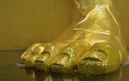 Gouden de teenclose-up van Boedha Royalty-vrije Stock Afbeelding