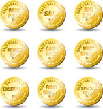 Gouden de verkoopprijs van de medaille stock illustratie