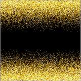 Gouden de watervallen schitteren van fonkeling-bellen concept de sterren het zwarte van de achtergrond champagnedeeltjes gelukkig royalty-vrije illustratie