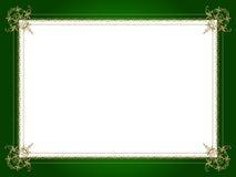 Gouden decoratieve grens Stock Fotografie