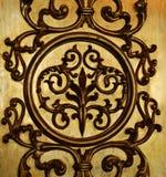 Gouden decoratieve muur Royalty-vrije Stock Afbeelding