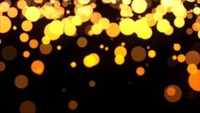 Gouden Deeltjeslijn stock footage