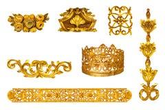 Gouden detail Royalty-vrije Stock Afbeelding