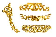 Gouden detail Stock Foto's