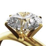 Gouden diamantring Stock Foto's