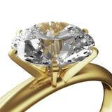 Gouden diamantring royalty-vrije illustratie