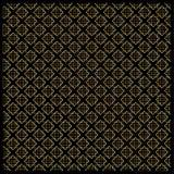 Gouden Diamond Checkered-patroon op zwarte Royalty-vrije Stock Foto's