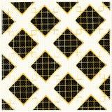Gouden Diamond Checkered-patroonvector Royalty-vrije Stock Fotografie