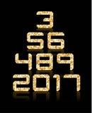 Gouden die aantal met transparante bezinningen wordt geplaatst Royalty-vrije Stock Afbeeldingen