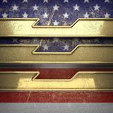 Gouden die achtergrond aan de vlag van de V.S. wordt geschilderd Royalty-vrije Stock Foto's