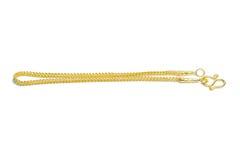 Gouden die armband op wit wordt geïsoleerd Stock Afbeeldingen