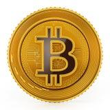 Gouden die crypto muntmuntstuk op witte achtergrond wordt geïsoleerd 3D Illustratie vector illustratie
