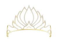 Gouden die diadeem op witte achtergrond wordt geïsoleerd 3d geef image royalty-vrije illustratie
