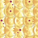 Gouden die kloktoestellen als vissenschalen worden geschikt Stock Afbeeldingen