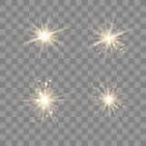 Gouden die licht met stof wordt geplaatst vector illustratie