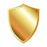 Gouden schild Royalty-vrije Stock Afbeeldingen